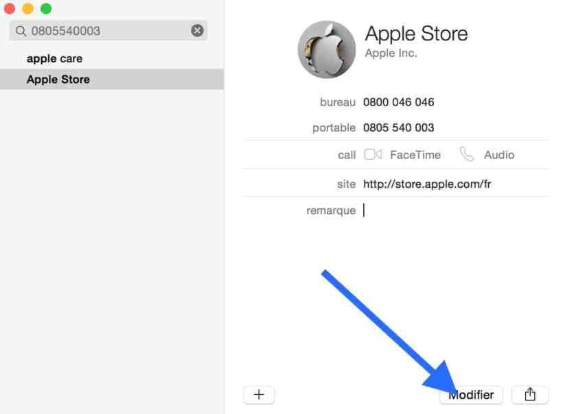 Personnaliser le carnet d'adresse de votre Mac 4