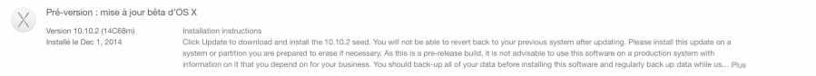 Désactiver les mises à jour bêta d'OS X sur le Mac App Store