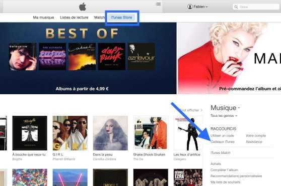Offrir un cadeau sur iTunes Store 1