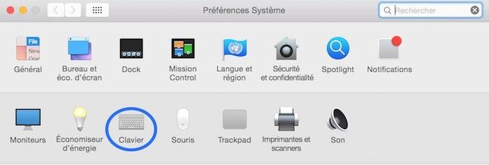 Raccourci clavier F5 et F6 sur Mac 1