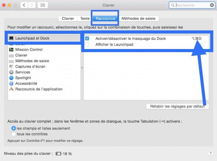 Raccourci clavier F5 et F6 sur Mac 2