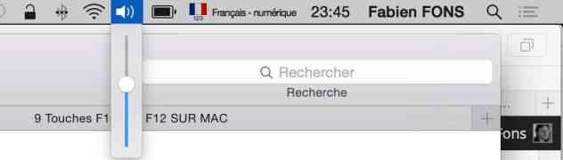 Volume son sur mac