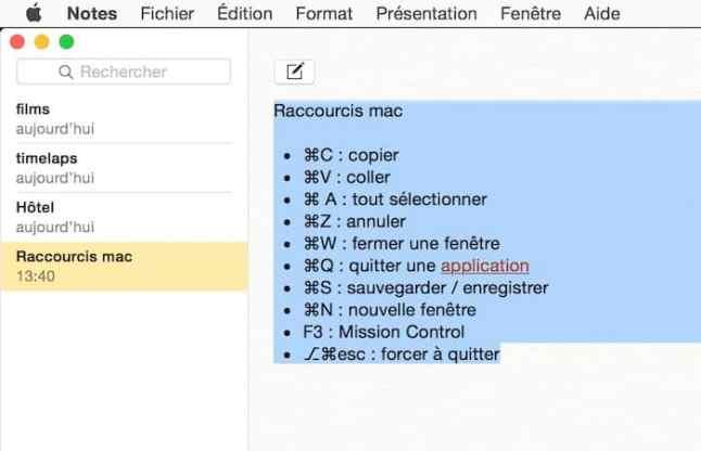 Raccourci clavier pour ouvrir la fenêtre de polices sur Mac2