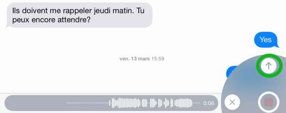 Envoyer un message audio par iMessage2