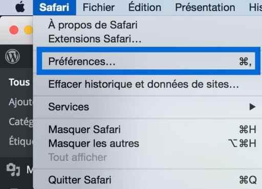 Ajouter un signet à Top Site sur Safari3