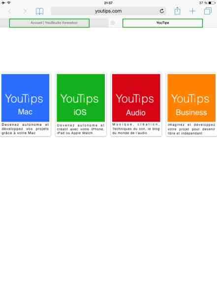 Comment créer une nouvelle page internet sur iPad ou iPhone4