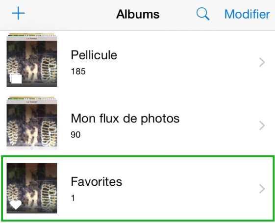 Créez l'album de vos plus belles photo iPhone2