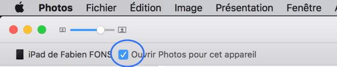 Empêcher Photos de s'ouvrir automatiquement quand vous connectez l'iPad ou l'iPhone