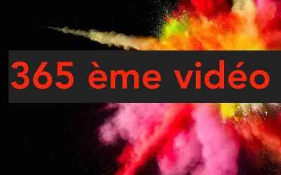 365ème vidéo de l'année!
