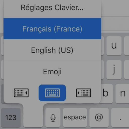 Utiliser le clavier de l'iPhone à une main
