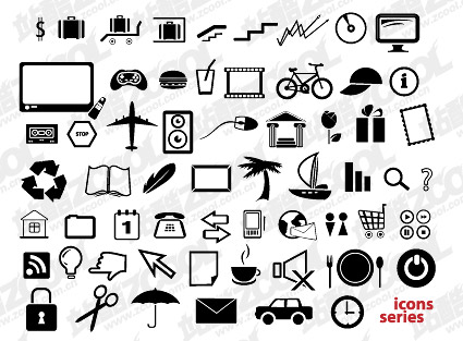 Number of practical simple icon vector material_Download