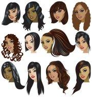 cartoon woman hairstyle-01