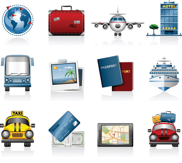 Travel travel icon vector materialDownload free vector3d