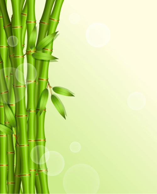 Bamboo cartoon background vector material_Download free