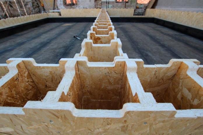 Moduli del sistema Xyliving di Saint-Gobin