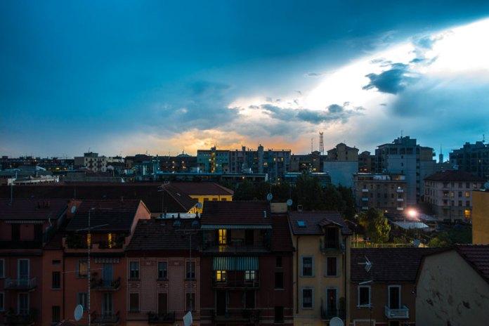 Milano al tramonto
