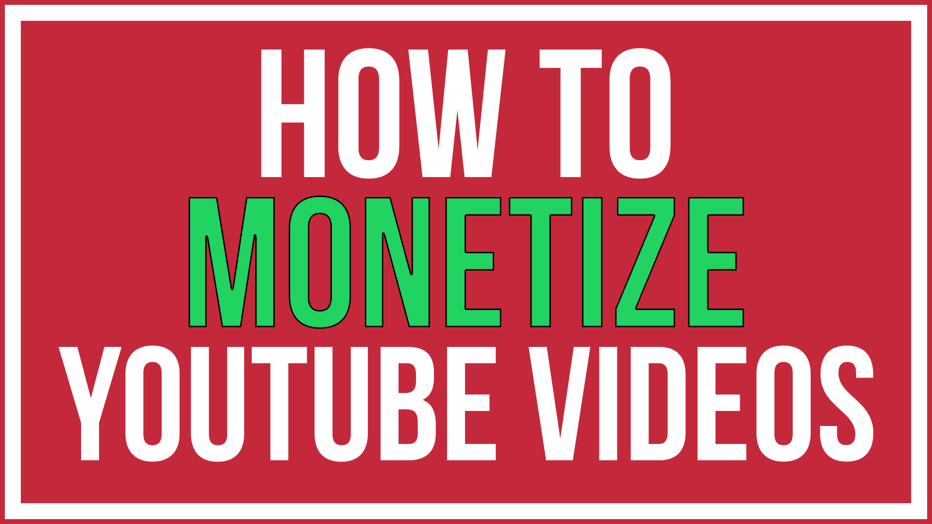 How to monetize youtube videos youtube tutorial youtube in this article you will learn how to monetize youtube videos and make money from them the word monetize means to make money from in this tutorial i will baditri Image collections