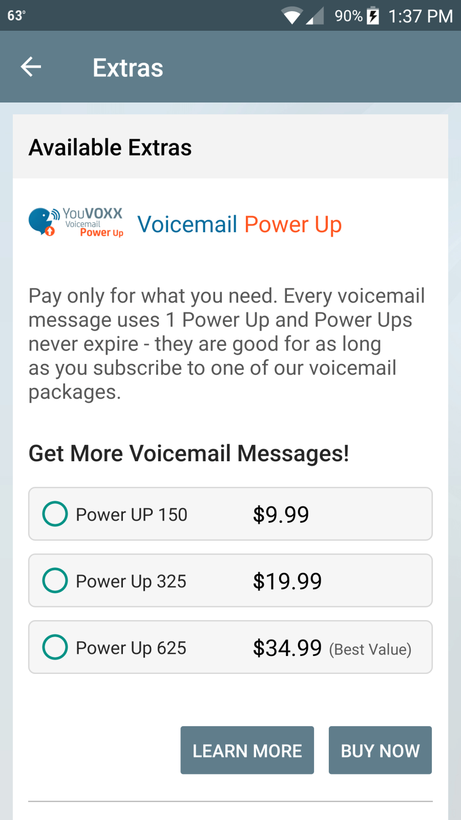 VOICEMAIL POWER-UPS