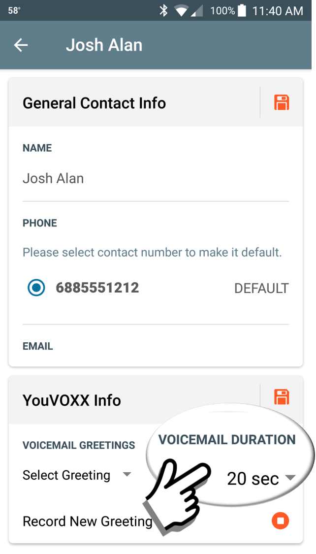 SHORTER VOICEMAILS