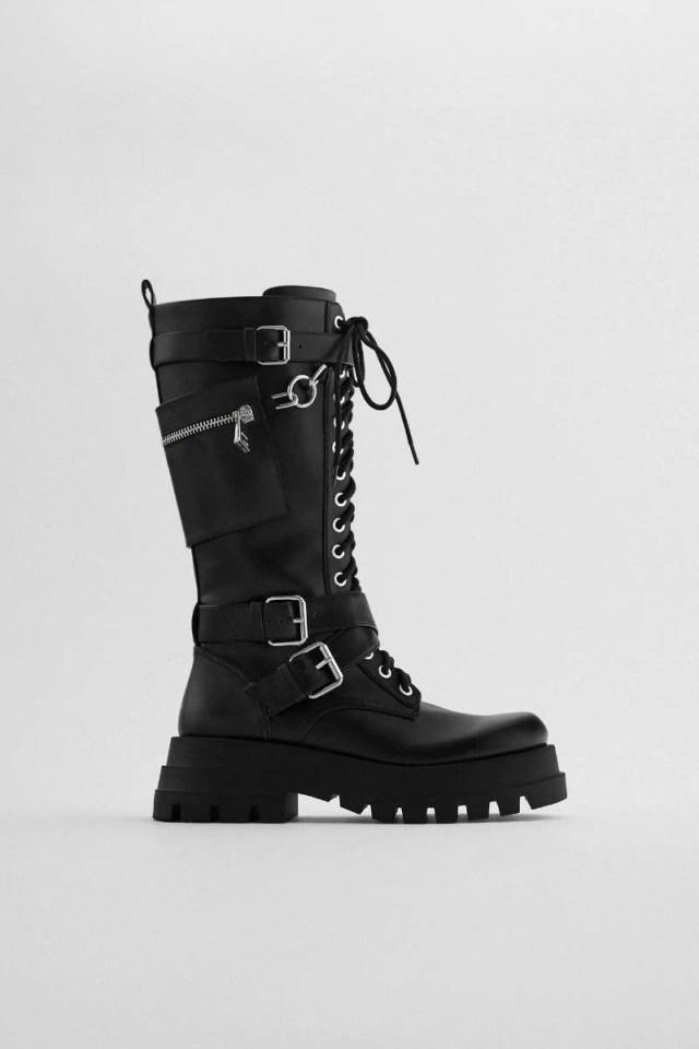 δετές μπότες Zara