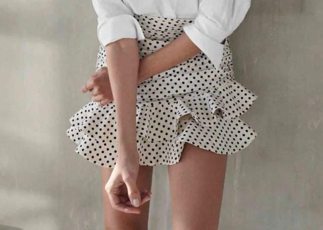 Zara φούστα νέες παραλαβές Ζέτα Μακρυπούλια