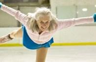 90 Yaşında Buz Pateni Yapan Kadın