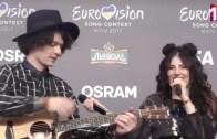 Belaruslu Grup Eurovision Backstage'de Mor ve Ötesinden 'Deli' Şarkısını Söyledi