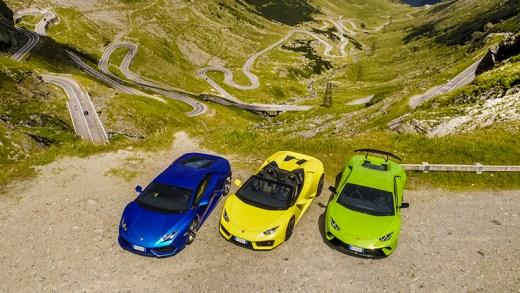 Lamborghini Huracán Transilvanya tanıtım sürüşü