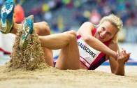 Kadınlar Uzun Atlamada Süper Performans