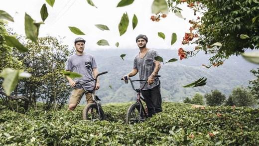 Sergio Layos ve Arif Gül rize bisiklet şov
