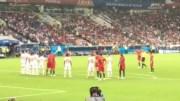 Tribünden Cristiano Ronaldo Frikik Golü