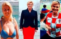 Güzeller Güzeli Hırvat Cumhurbaşkanı Futbol Takımıyla Coştu