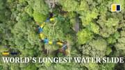 Dünyanın En Uzun Su Kaydırağı Açıldı