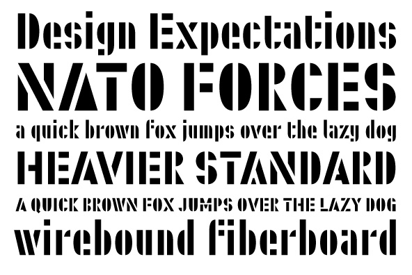 Military: Font Military