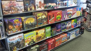 Games on Shelf