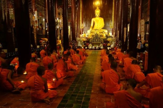 Moines Bouddhistes.