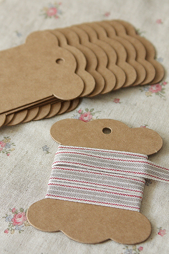 ECO Brown Kraft Goods Hard Craft Paper Board Thread