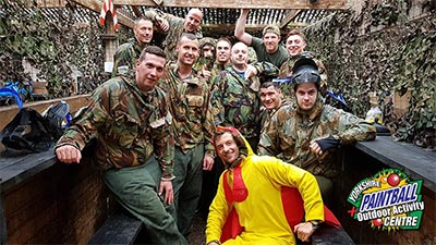 Stag do paintball games