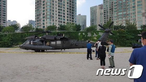 Korean netizens are angry! U.S. military aircraft forced to land in Seoul Park, next to the residential building