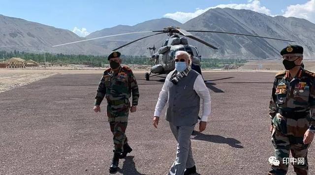 Indian Prime Minister Modi visited the border troops today to see what he said