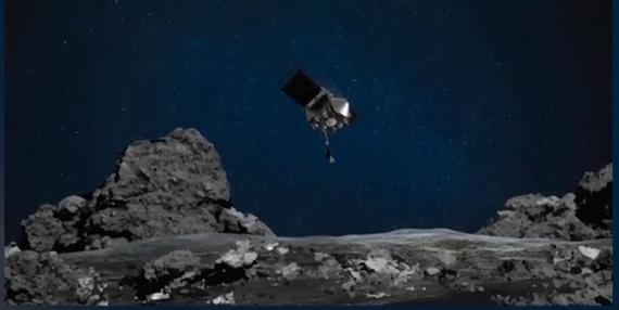 The Pluto probe grabbed 60 grams of samples from the asteroid Bennu and will bring them back to Earth for study