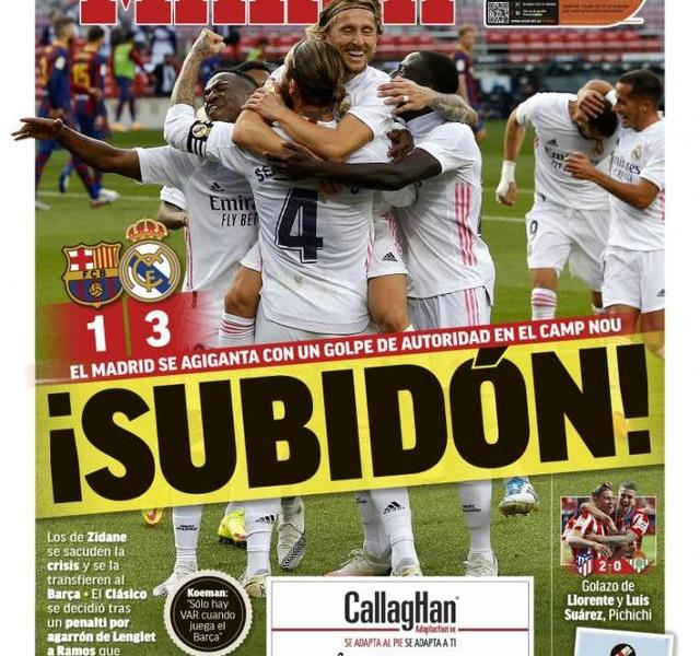 La Liga today's front page:Real Madrid returns to the proud country Derby Koman broke out after losing