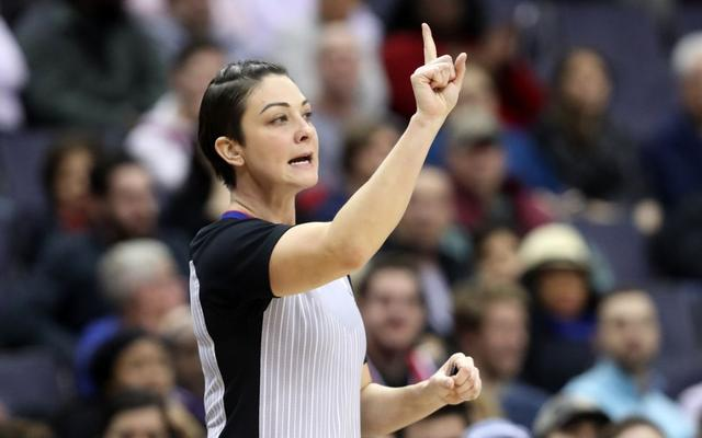 There are only 7 female referees in NBA history, and 5 of them have not played the playoffs