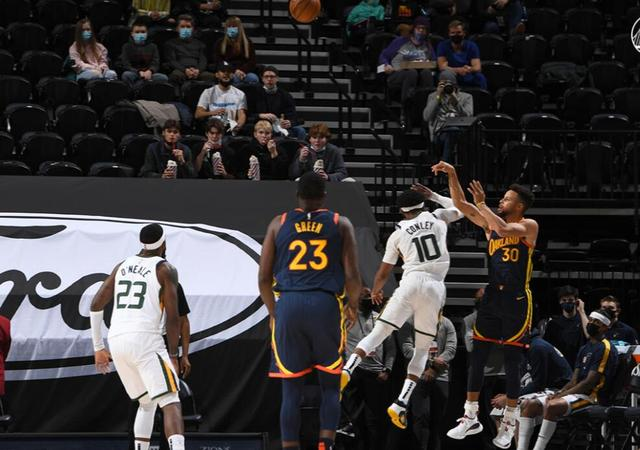 Jazz beats the Warriors to take 8 straight victories, Curry overtakes Miller with a three-pointer and is second in history