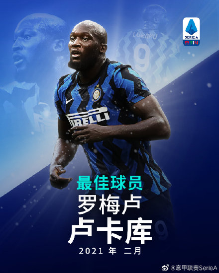 Serie A announced the best player of the month: Inter Milan striker Lukaku elected
