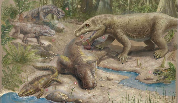 How did life on land recover after the mass extinction?