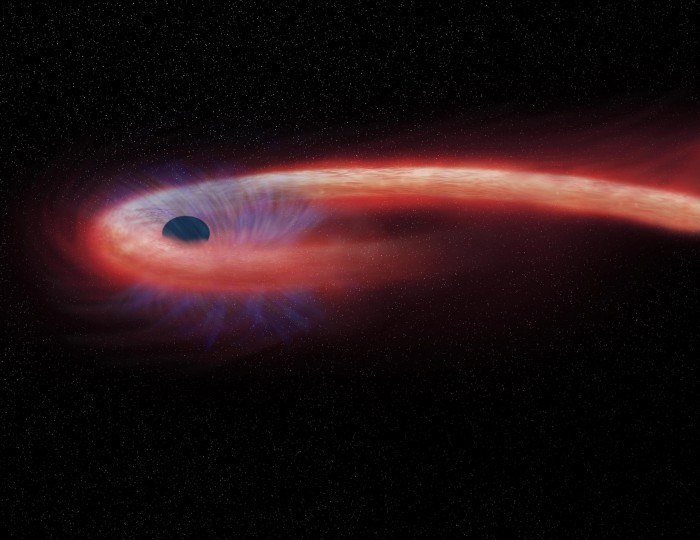 For the first time, astronomers have detected the last message from a star digested by a black hole