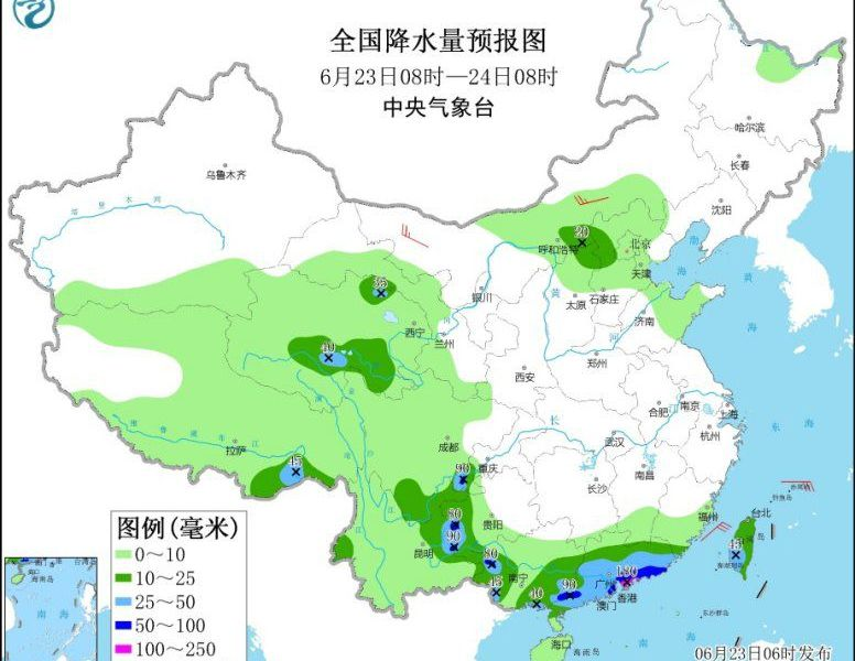 Stronger precipitation in southern China and other places with thunderstorms in northern China and other places