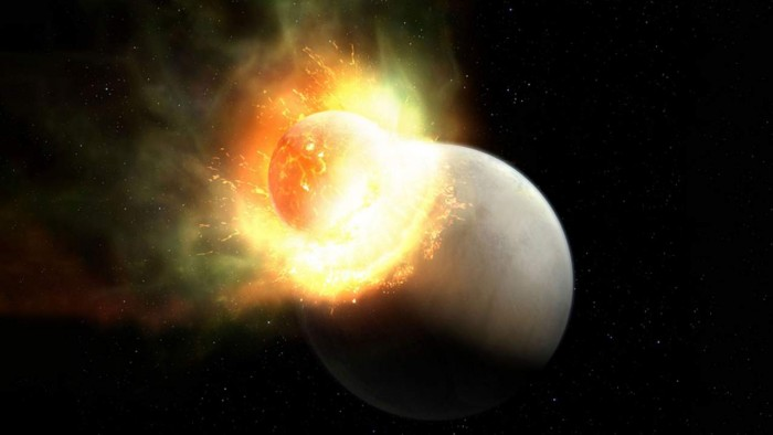 Researchers found that a planet lost its atmosphere after a huge impact