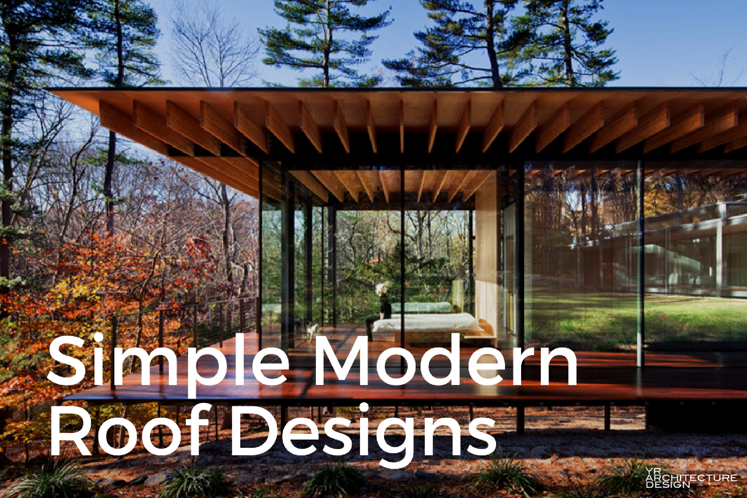 Simple modern roof designs for Simple house design made of wood